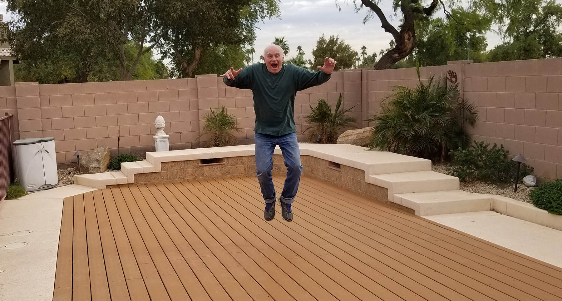 Deckover Pool Retirement happy customer
