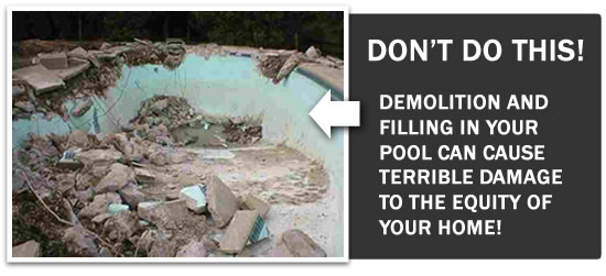 Don't fill in your pool - deckover